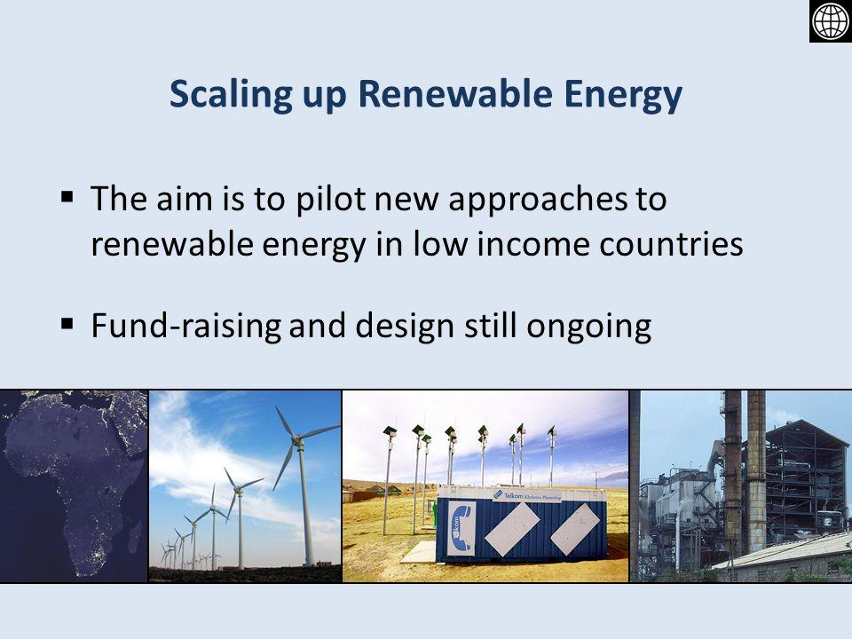 Scaling up Renewable Energy