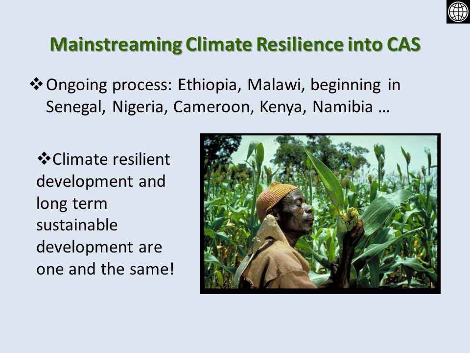 Mainstreaming Climate Resilience into CAS