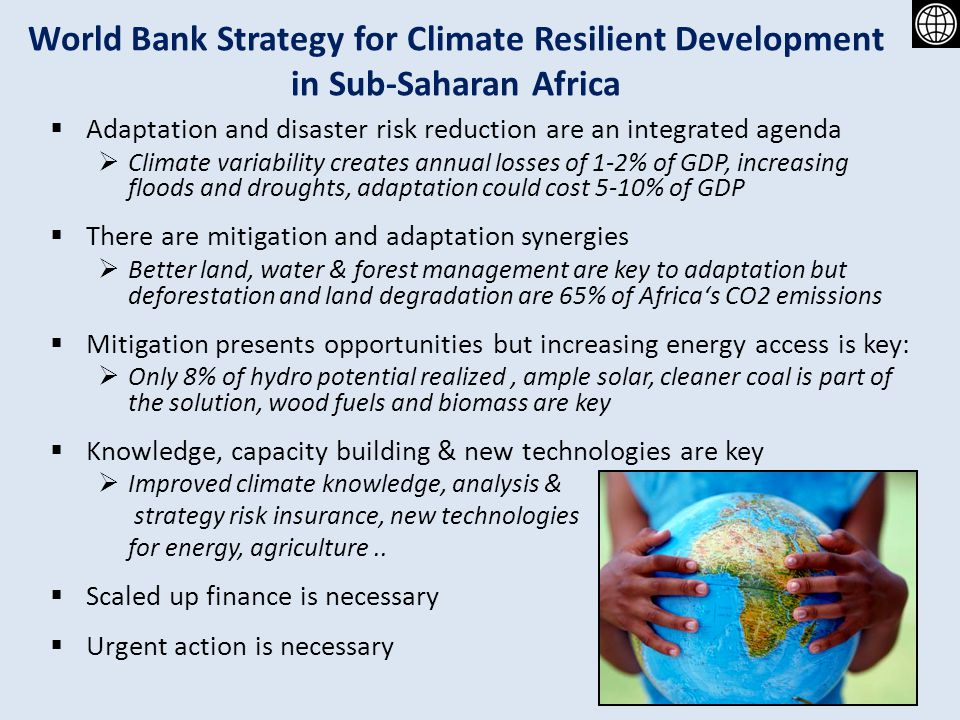 World Bank Strategy for Climate Resilient Development in Sub-Saharan Africa