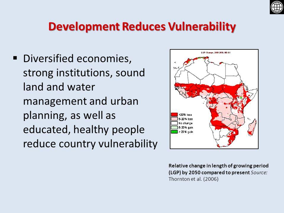 Development Reduces Vulnerability