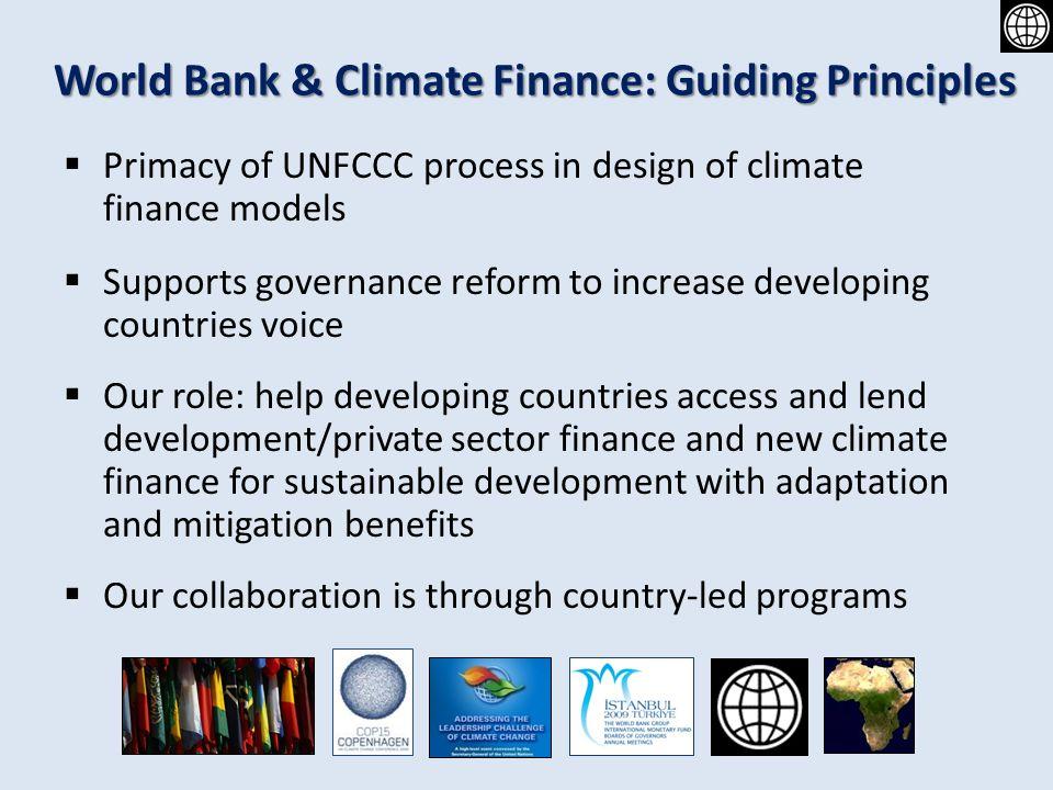 World Bank & Climate Finance: Guiding Principles
