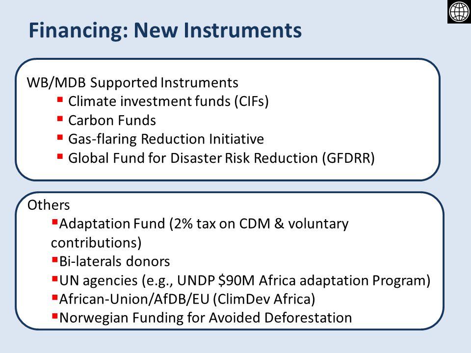 Financing: New Instruments