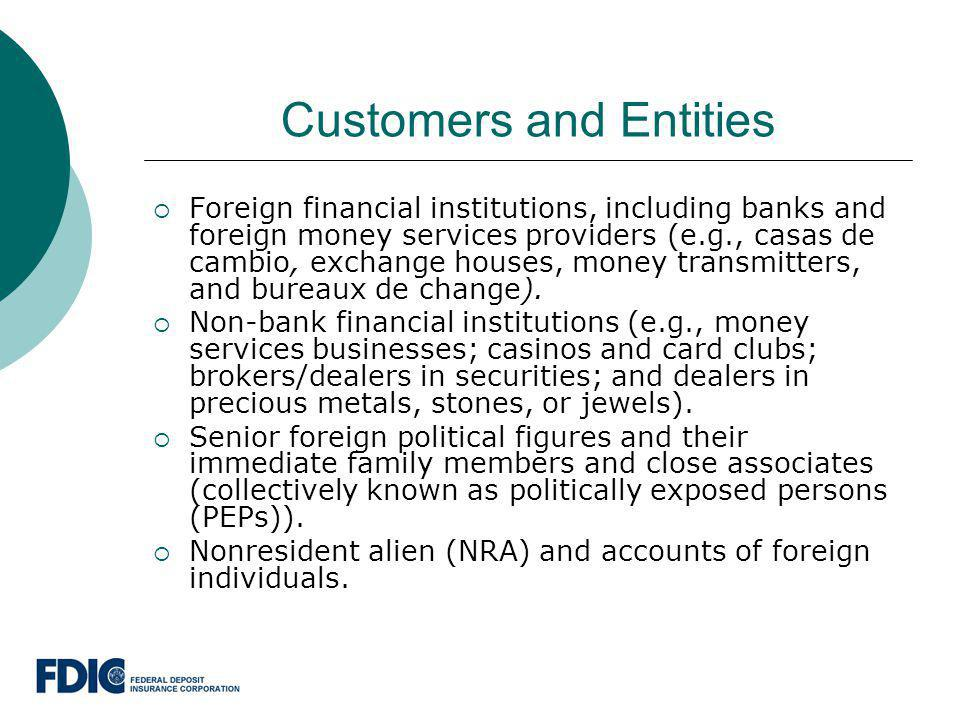 Customers and Entities