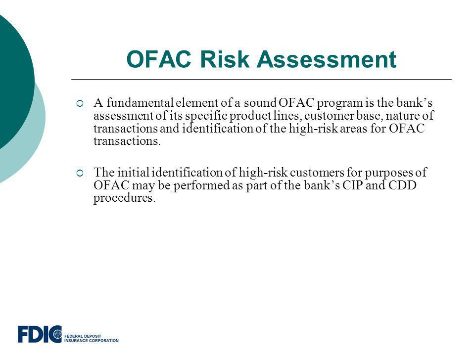 OFAC Risk Assessment