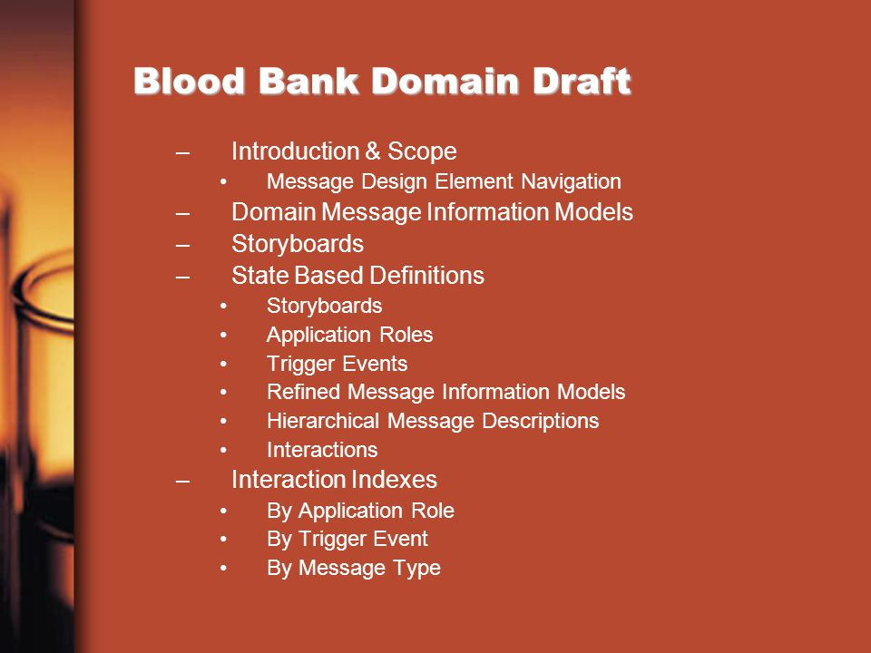 Blood Bank Domain Draft