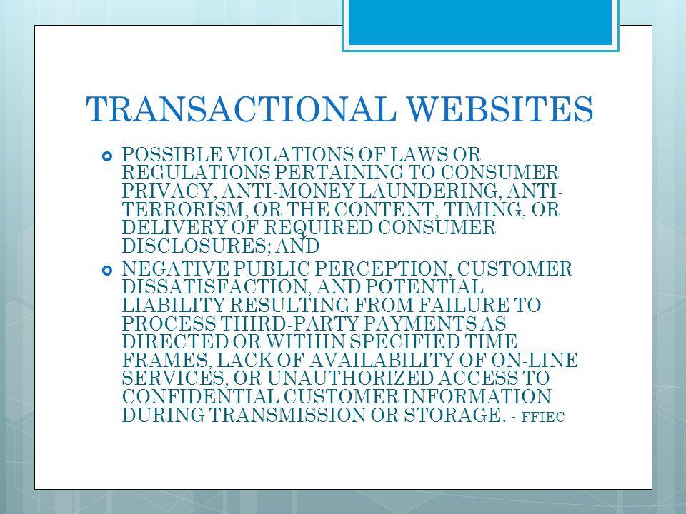TRANSACTIONAL WEBSITES