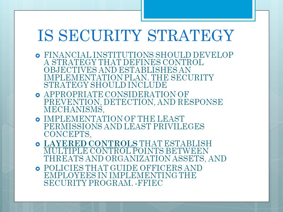 IS SECURITY STRATEGY