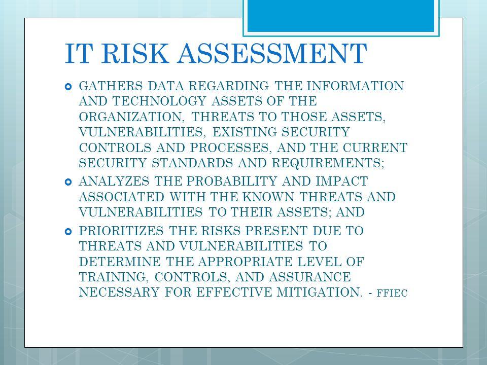 IT RISK ASSESSMENT