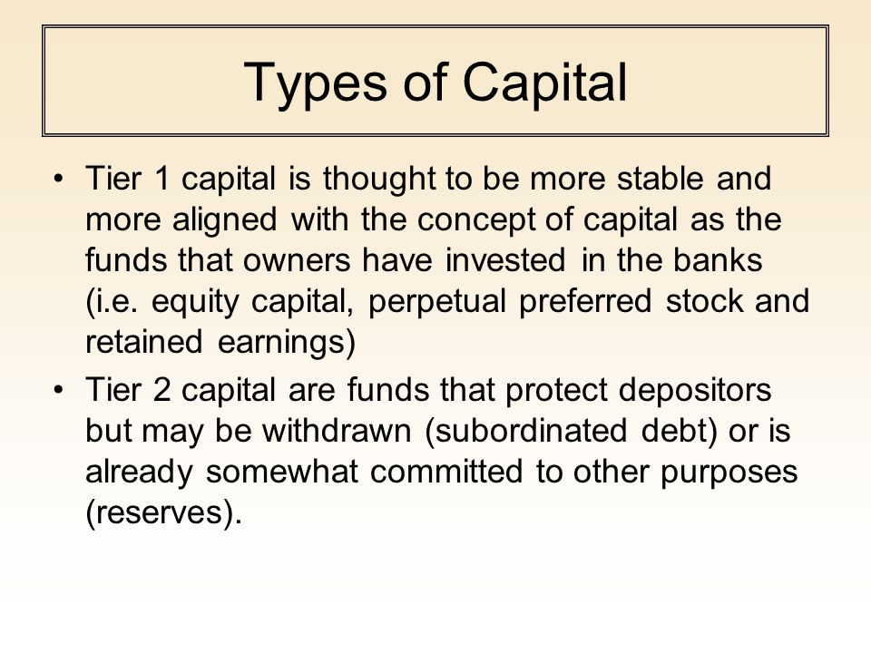 Types of Capital