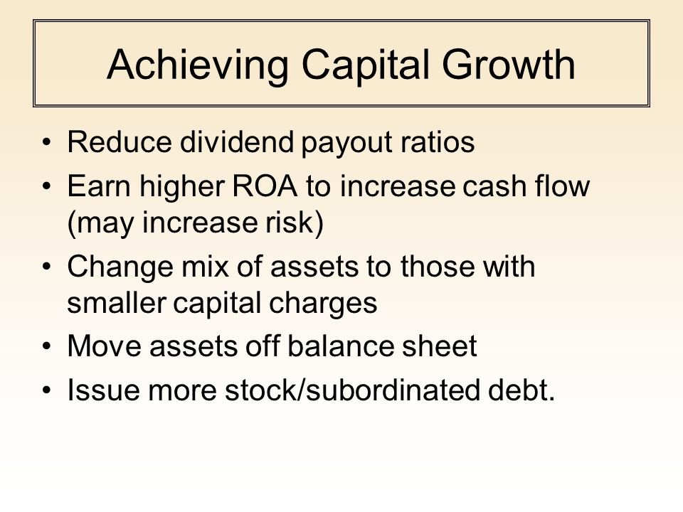 Achieving Capital Growth