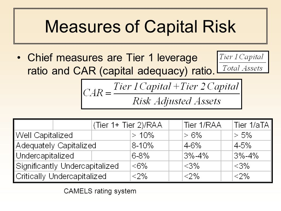 Measures of Capital Risk
