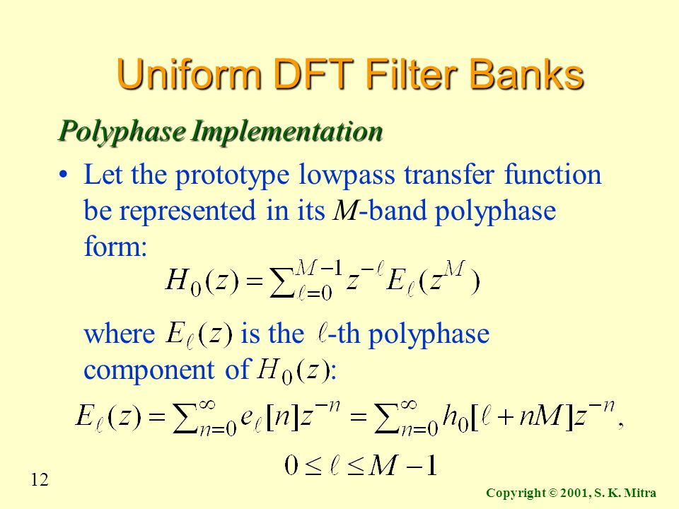 Uniform DFT Filter Banks