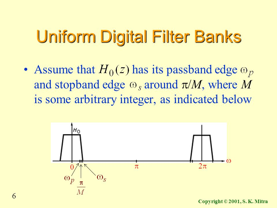 Uniform Digital Filter Banks