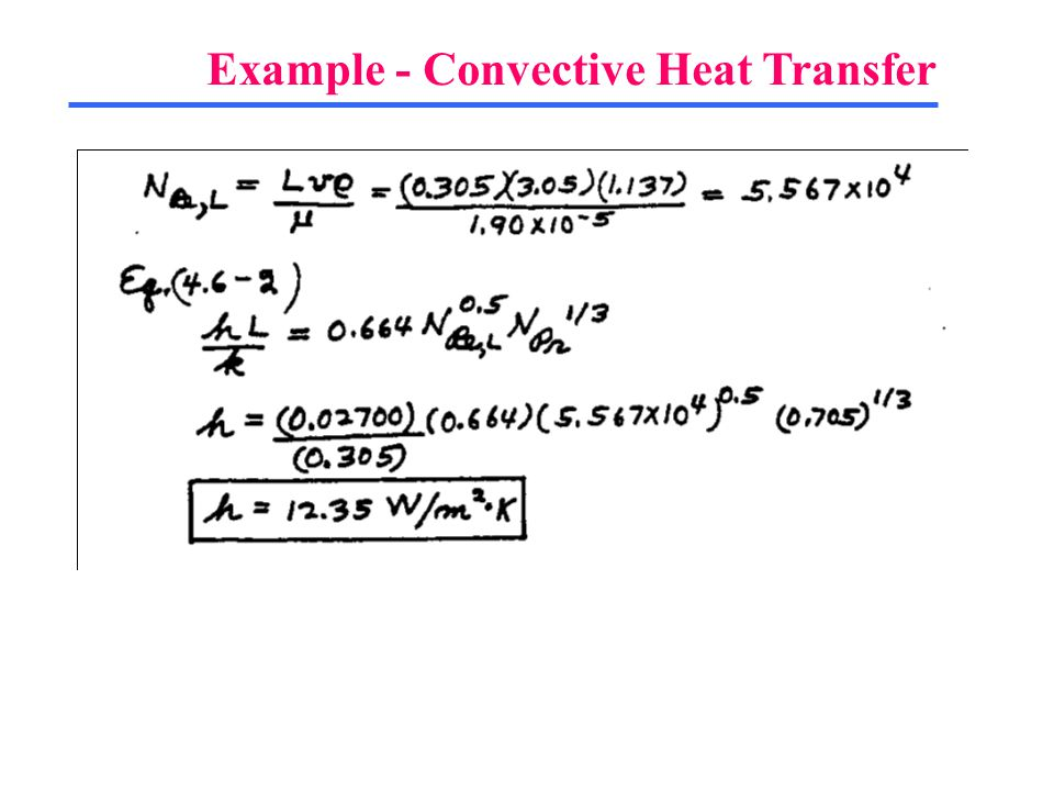 Example - Convective Heat Transfer