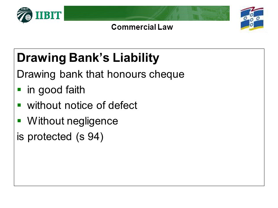 Drawing Bank's Liability