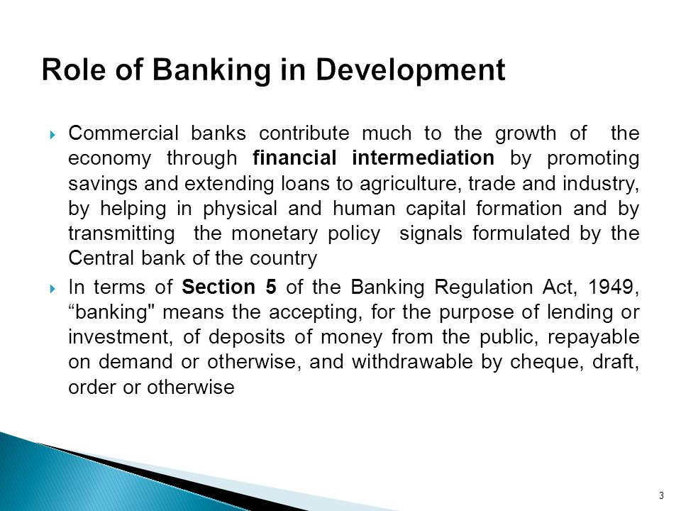 Role of Banking in Development