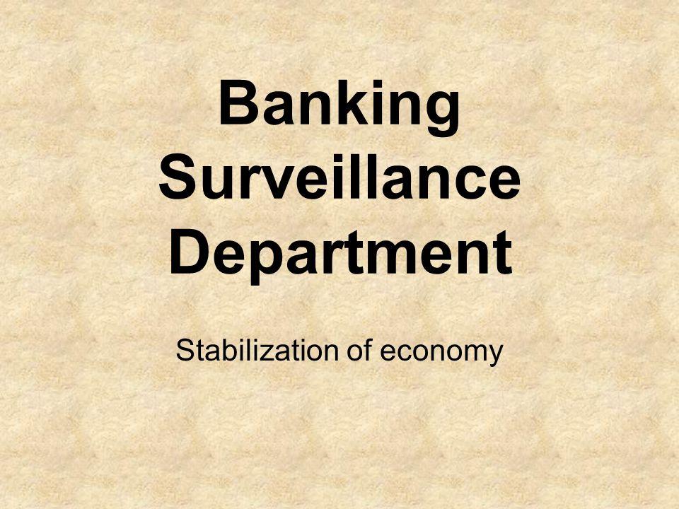 Banking Surveillance Department