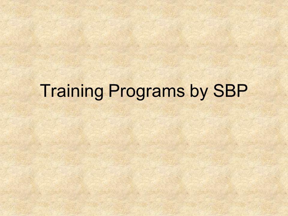 Training Programs by SBP