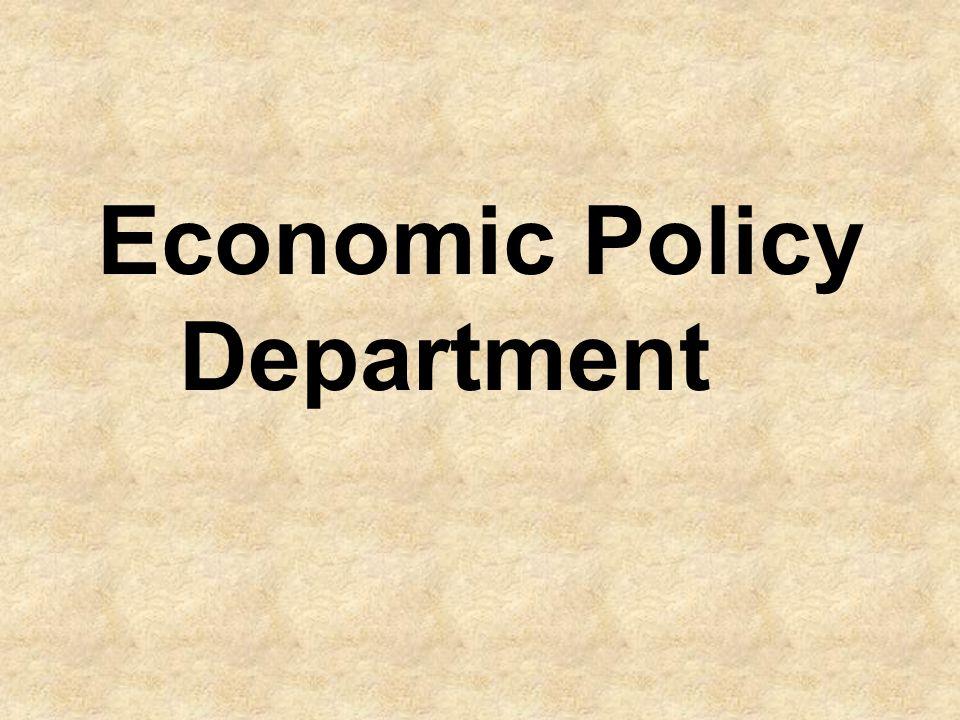 Economic Policy Department