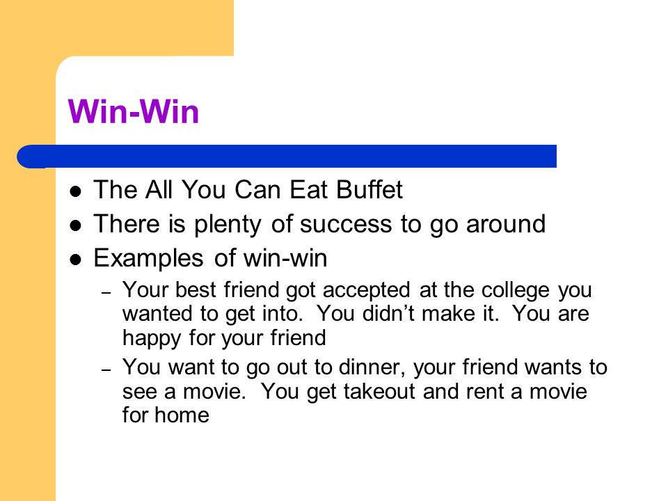 Win-Win The All You Can Eat Buffet