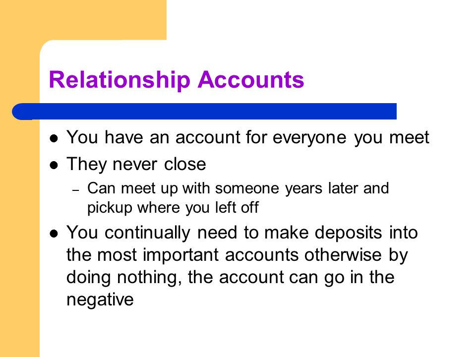 Relationship Accounts
