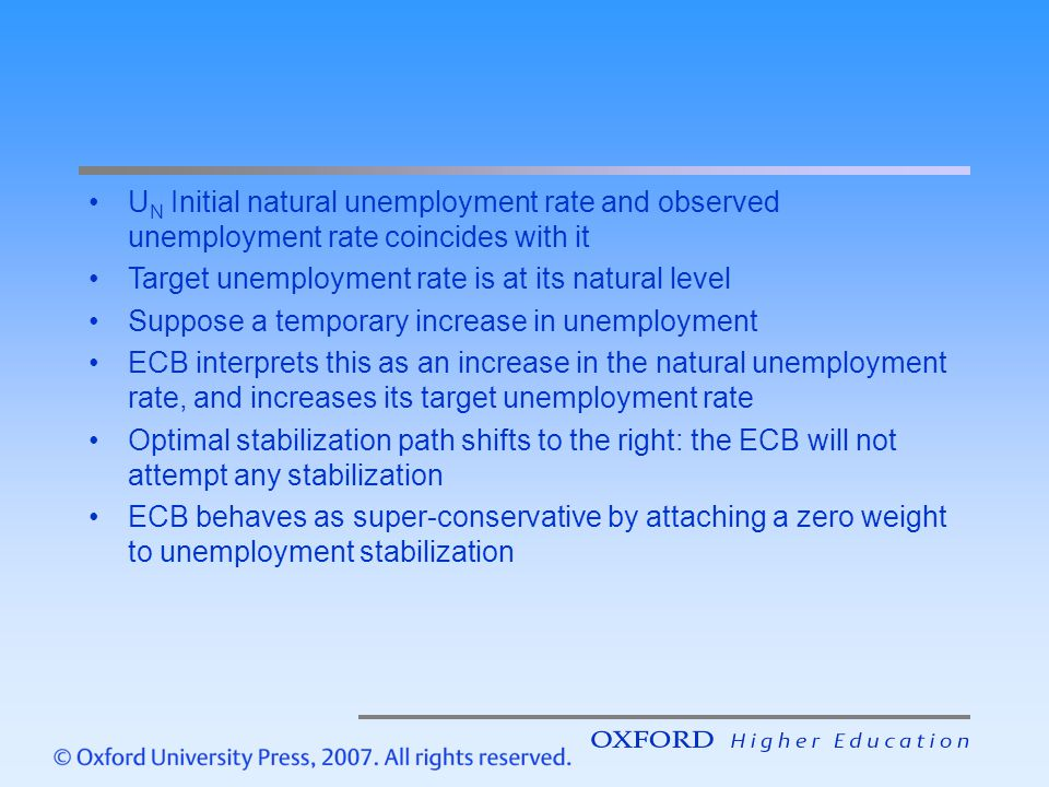 UN Initial natural unemployment rate and observed unemployment rate coincides with it