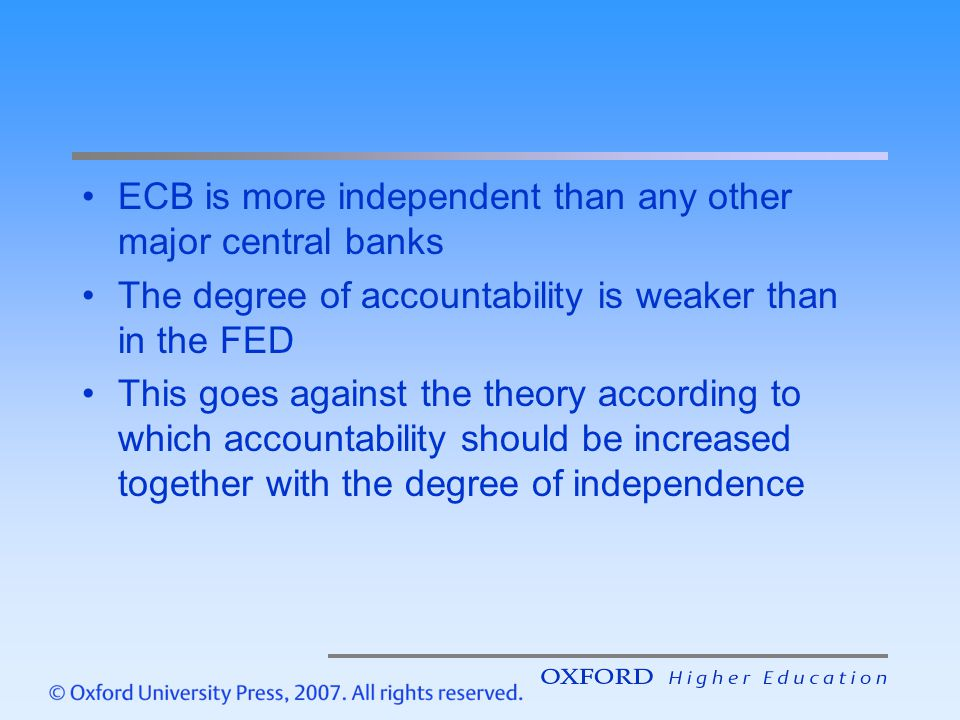 ECB is more independent than any other major central banks