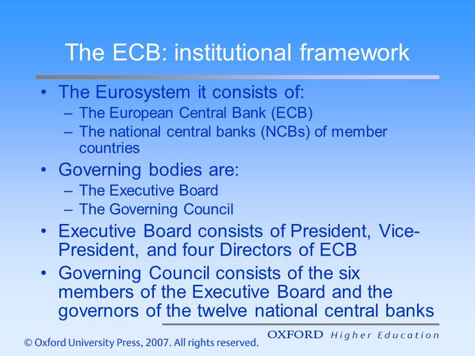 The ECB: institutional framework