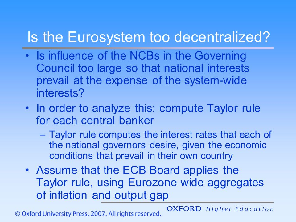 Is the Eurosystem too decentralized