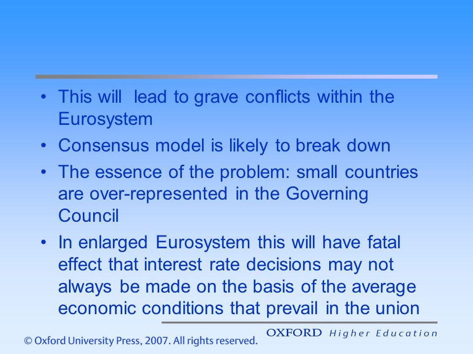This will lead to grave conflicts within the Eurosystem