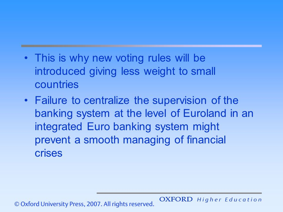 This is why new voting rules will be introduced giving less weight to small countries