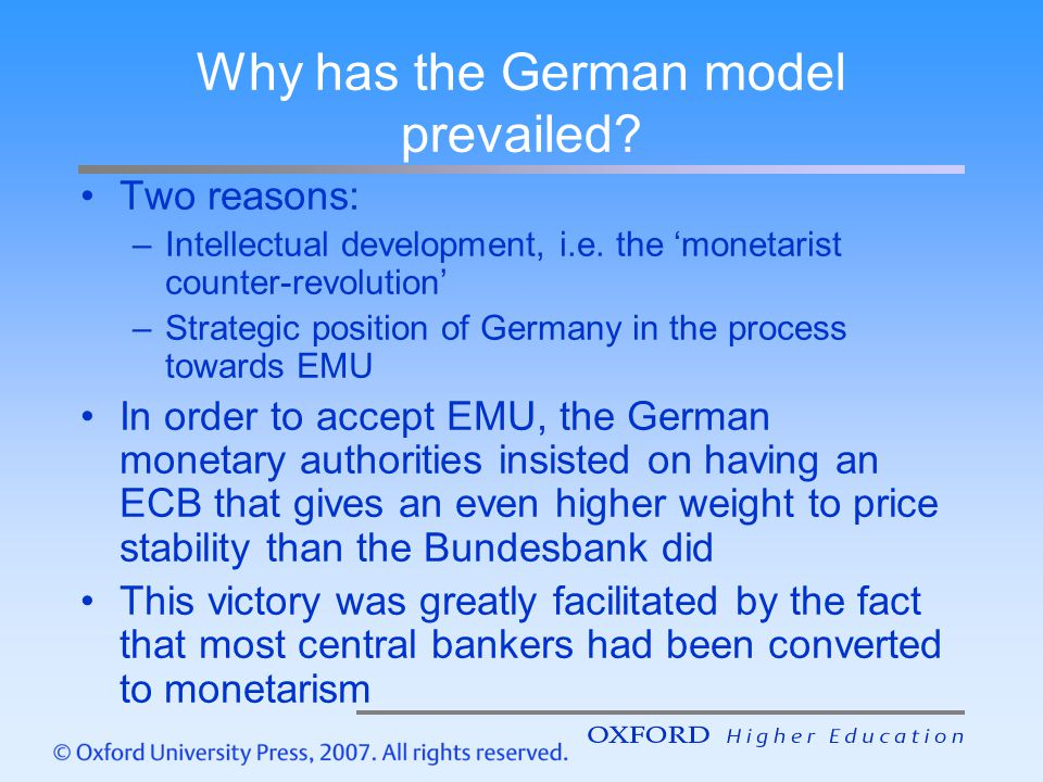 Why has the German model prevailed