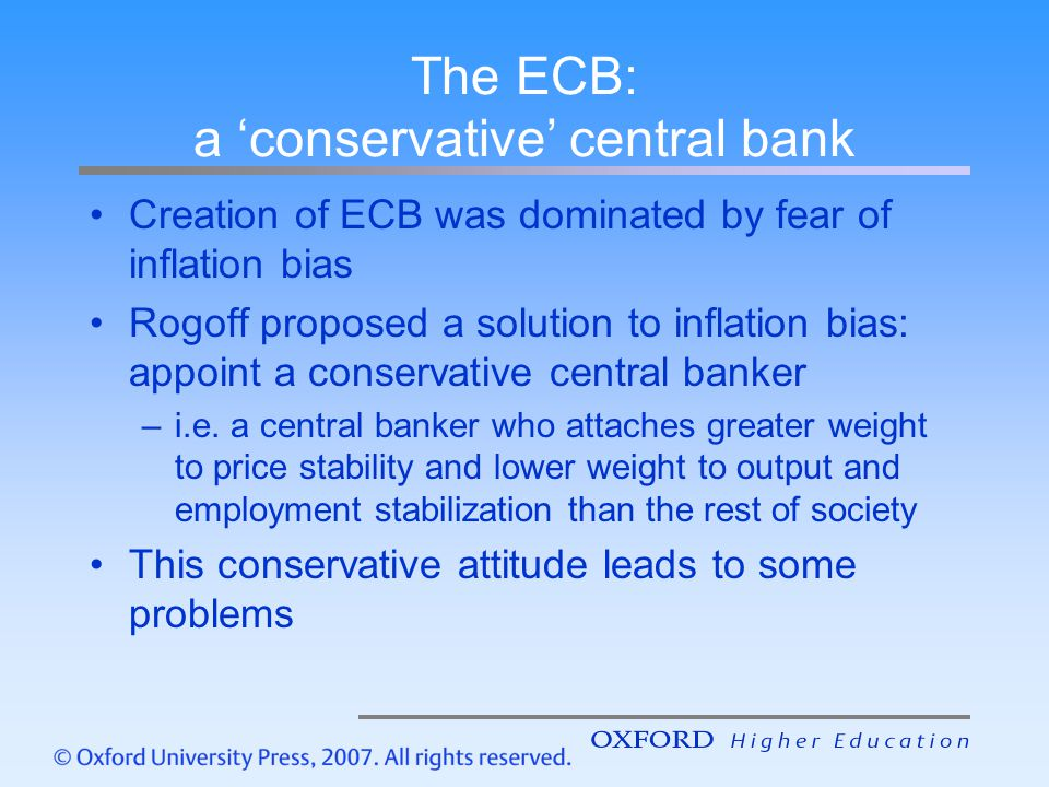 The ECB: a 'conservative' central bank