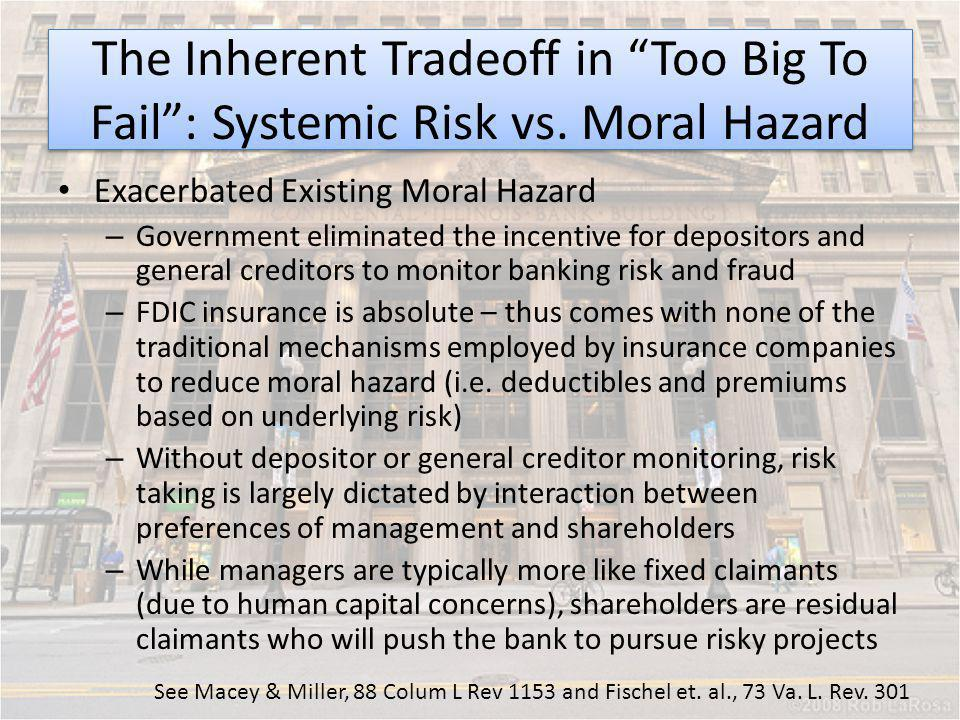 The Inherent Tradeoff in Too Big To Fail : Systemic Risk vs