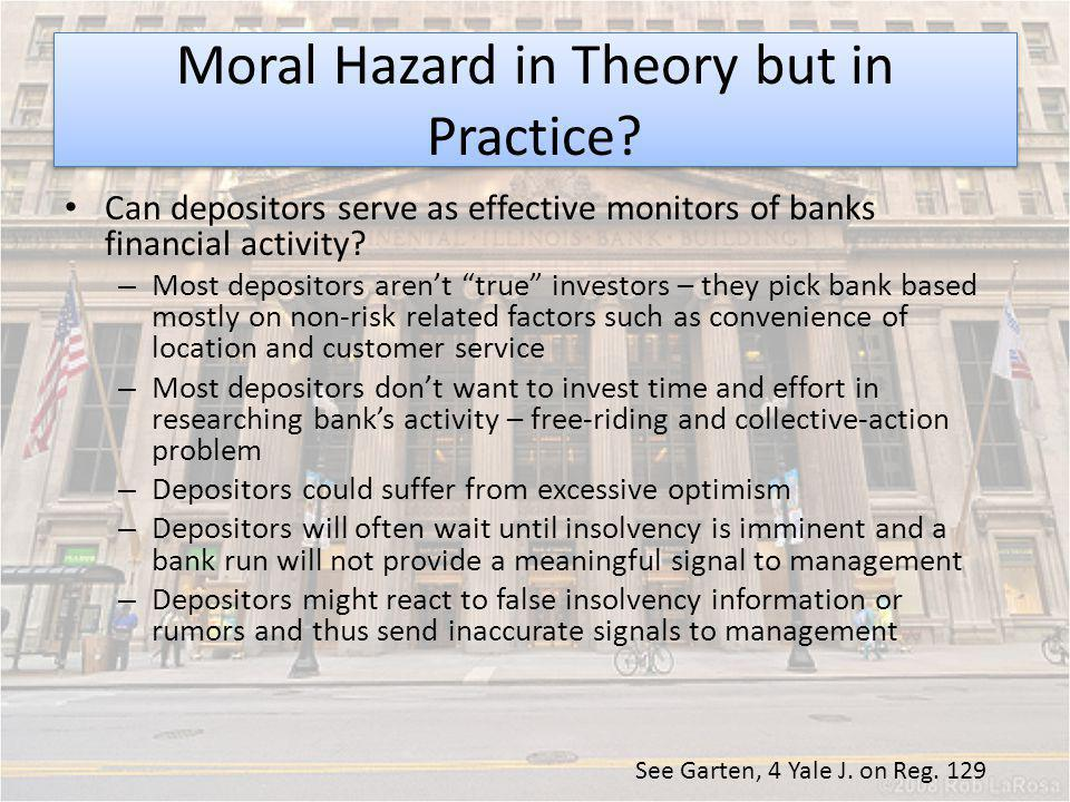 Moral Hazard in Theory but in Practice