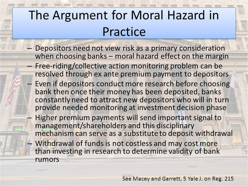 The Argument for Moral Hazard in Practice