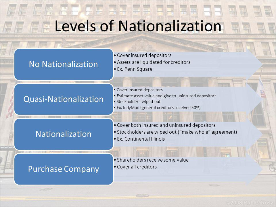 Levels of Nationalization