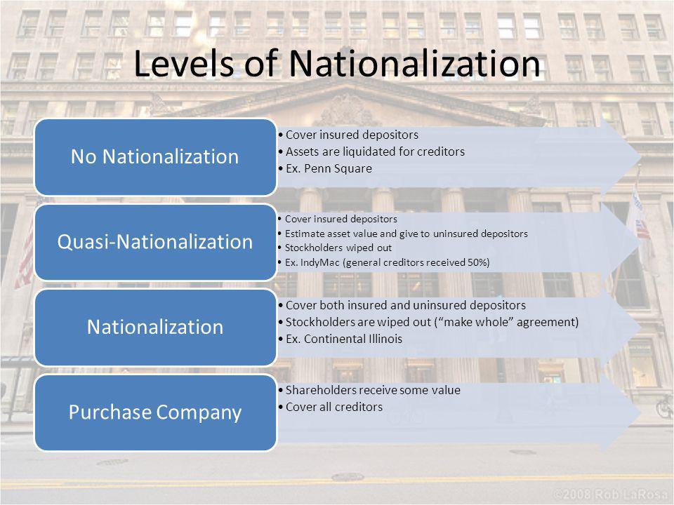 Levels of Nationalization