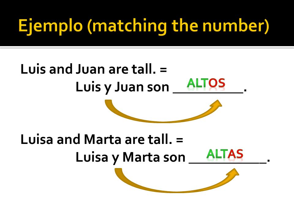 Ejemplo (matching the number)