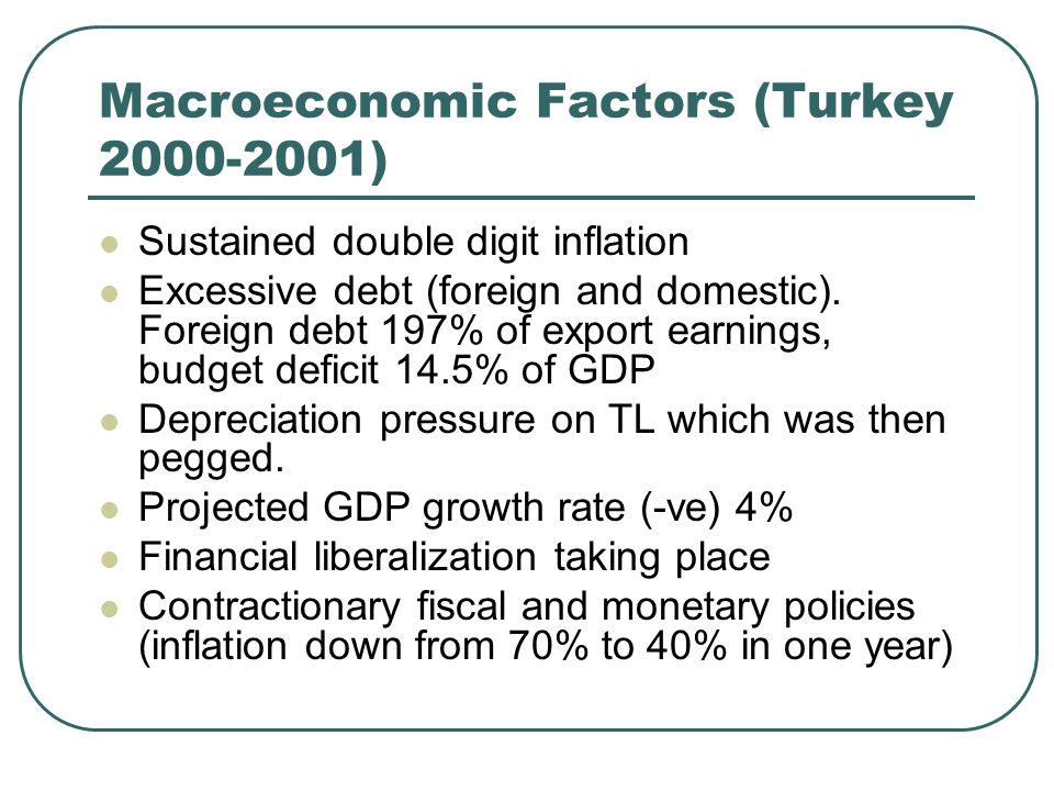 Macroeconomic Factors (Turkey )