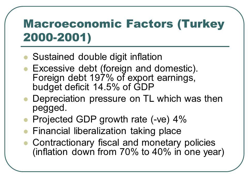 Macroeconomic Factors (Turkey 2000-2001)