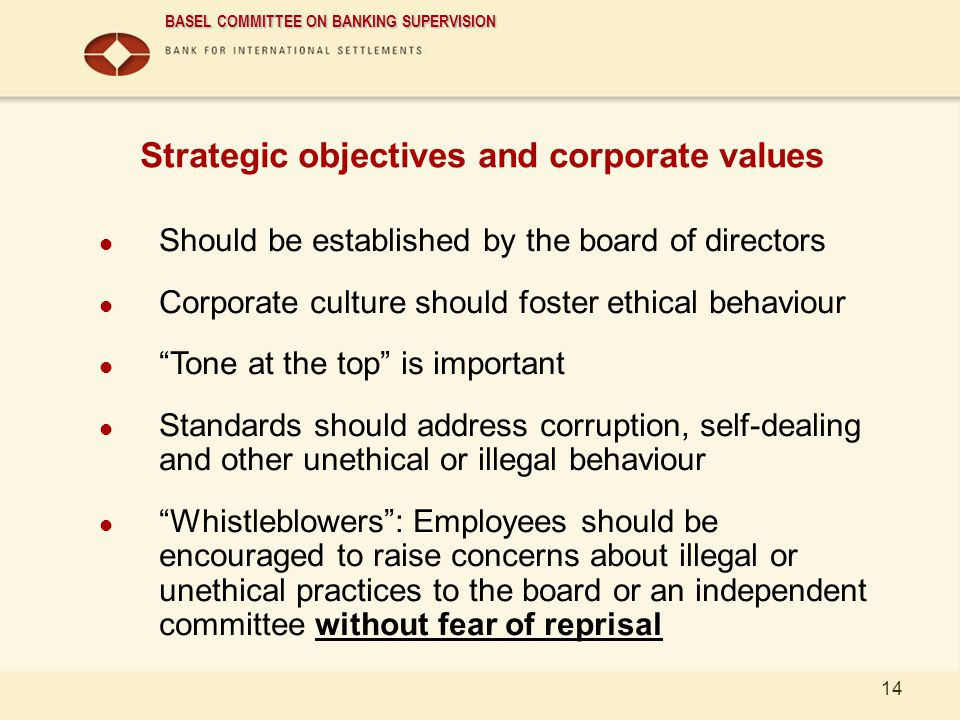 Strategic objectives and corporate values