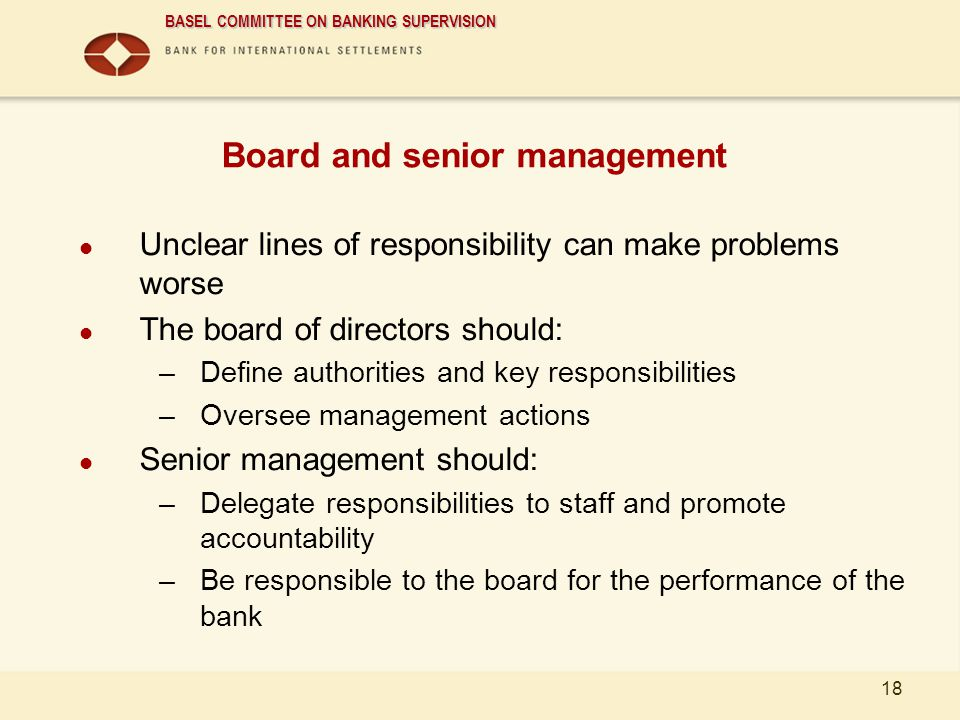 Board and senior management
