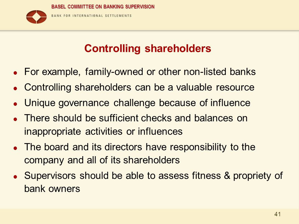 Controlling shareholders