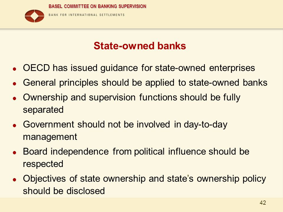 State-owned banks OECD has issued guidance for state-owned enterprises