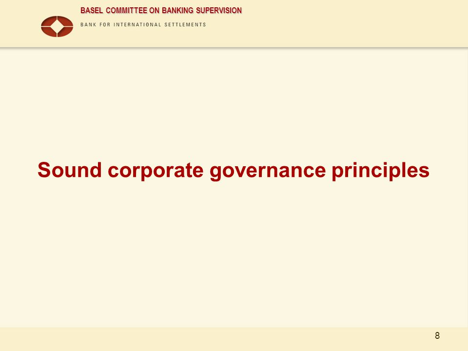Sound corporate governance principles