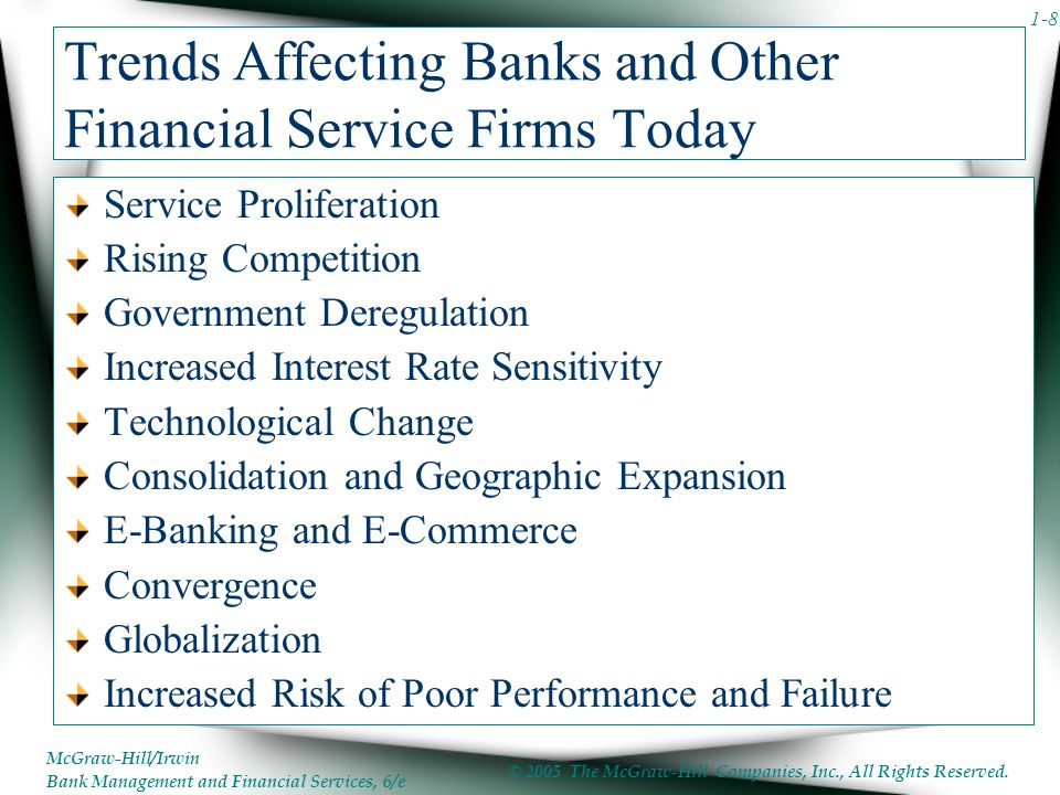 Trends Affecting Banks and Other Financial Service Firms Today
