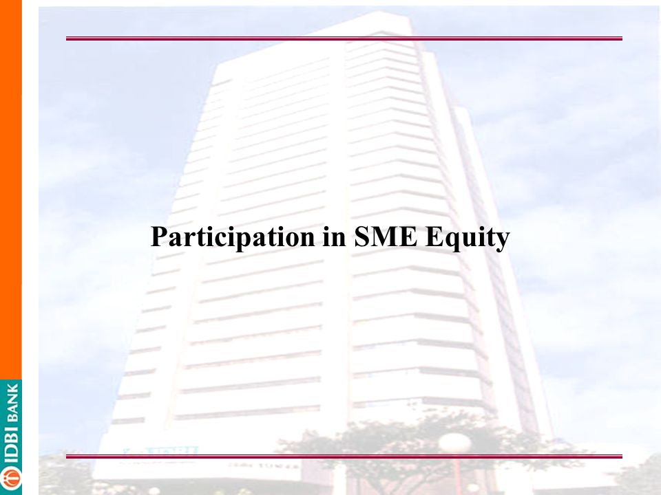 Participation in SME Equity