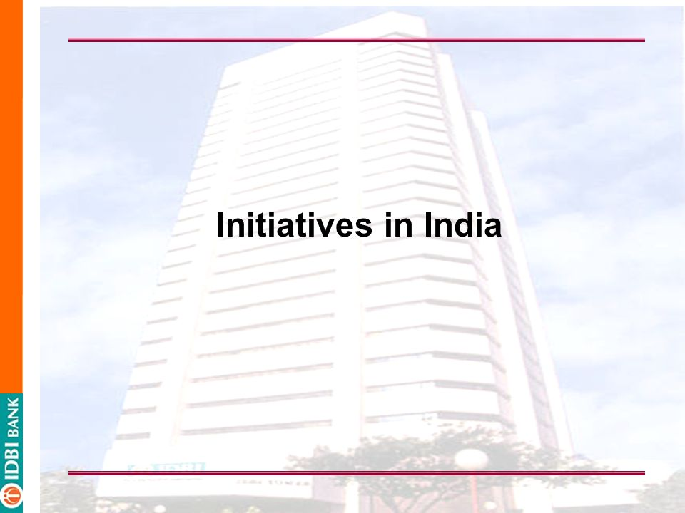 Initiatives in India