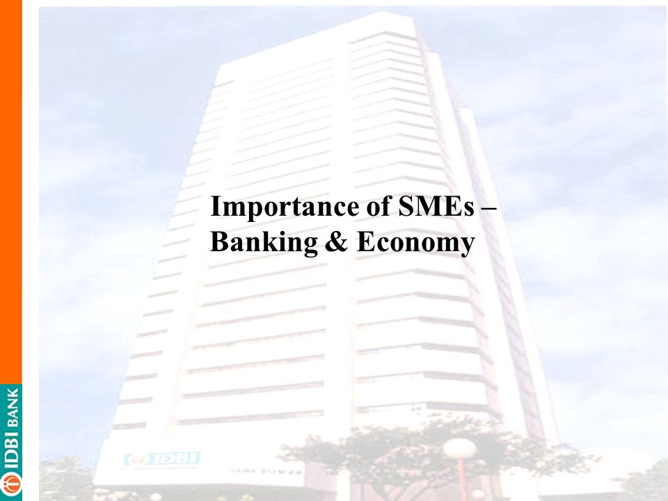 Importance of SMEs – Banking & Economy